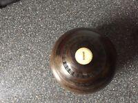 Antique lawn bowls balls