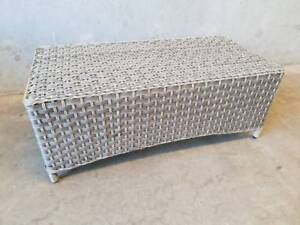 BERGAMO COFFEE TABLE IN COCO SHELL SYNTHETIC WEAVE Loganholme Logan Area Preview