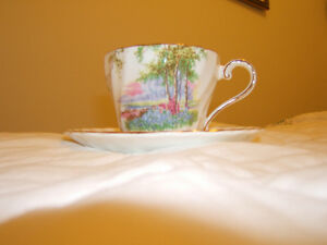 BONE CHINA TEA CUP/SAUCER    2 PATTERNS Kingston Kingston Area image 1