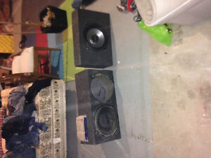 "12"" sub woofer boxes,"