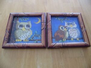 VINTAGE OWL PICTURES AND S&P SHAKERS