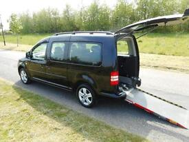 2013 Volkswagen Caddy Maxi 1.6 Tdi Automatic BLACK Wheelchair Accessible Vehicle