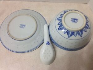 Asian Bowls, Plates and Ladles for Six Kingston Kingston Area image 4