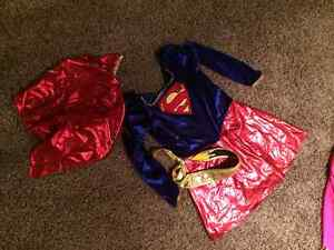 Girls size 6/7 super girl costume deluxe style