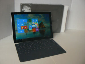 "Surface PRO 3 12.3"" Core i7 8gbRam 128ssd Windows 10 +type cover"