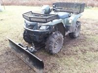 "2007 Suzuki King Quad 700cc with 60"" Kimpex plow"