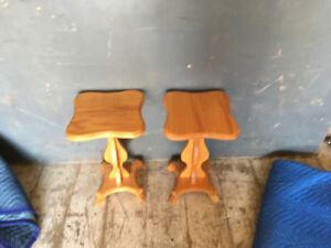Two small wooden table