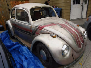 1968 Volkswagen Beetle (NO MOTOR) Great winter project