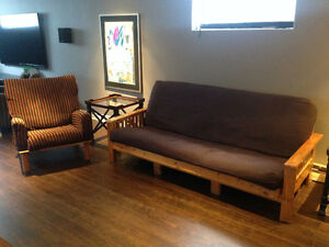 Futons and a matching chair.
