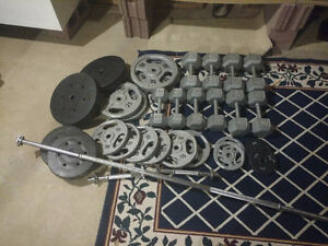 Dumbells, Benchpress & Plate Weights for sale