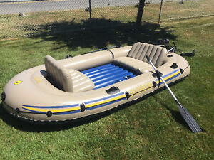 Blow up boat with Electric motor