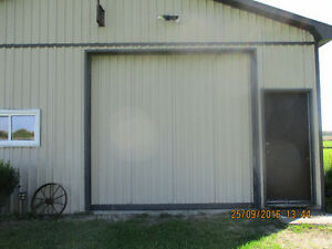 Large insulated garage door