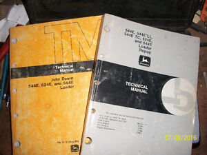 John Deere loader 624E repair manuals