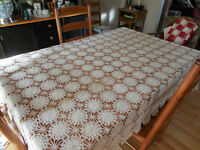 Large Hand Crochet Table cover