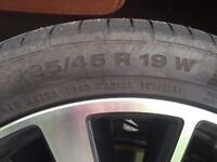 WANTED: 2 off 225/45 R19 w tyres