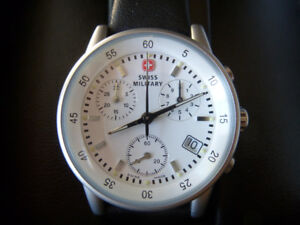$365 Swiss Military Chronograph Watch, 34mmWomen/Unisex, NEW