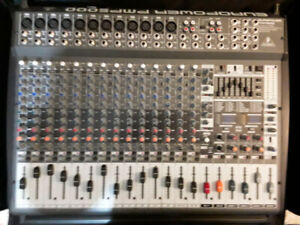 Behringer PMP5000 Powered Audio Mixer (Parts or Repair)