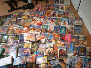 Hundreds of kids vhs movies