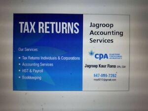 Accounting, Bookkeeping and Tax Services
