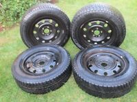 4X TOYOTA Sienna WINTER TIRES +RIMES 215,65,16 LIKE NEW