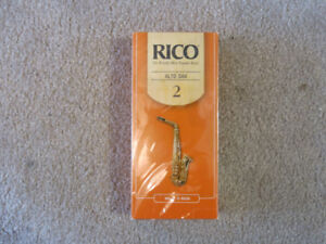 Brand New 25 Pack of Rico Alto Saxophone Reeds - No. 2