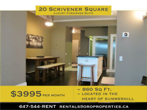 Luxury furnished 1 + Den condo in the heart of Summerhill