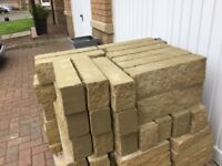 New stone faced blocks approx 130