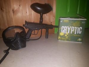 Starter paintball gun setup
