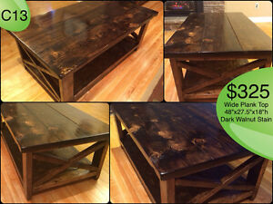CUSTOM BUILT COFFEE TABLES, YOUR CHOICE OF STAIN Kingston Kingston Area image 1