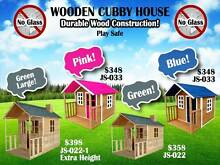 Kids Wooden Cubby House Outdoor Playhouse + Windows Verandah Derrimut Brimbank Area Preview