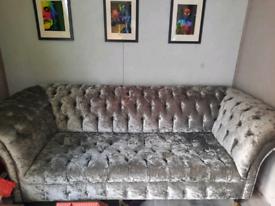 Crushed velvet sofa