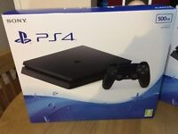PlayStation 4 Slim Brand New sealed, Possible to add at extra games and others