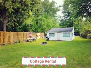 Ipperwash beach cottage for rent near Grand Bend Lake Huron