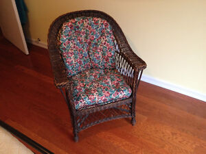 Vintage Wicker Arm Chair PRICE REDUCED