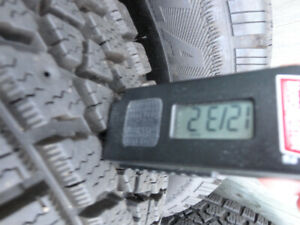 Rims with Winter Tires  ( made in USA ) 90-99%