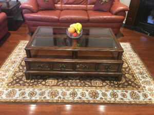 Broyhill Solid Wood 3 Piece Coffee Table Sets - $500