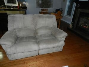 Reclining couch and love seat and chair
