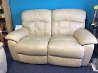 2x 2 seater leather sofa