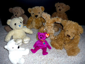 7 Bears and a Rabbit .. Stuffies : Clean, Smoke Free ..Exc Cond Cambridge Kitchener Area image 1