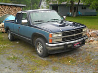 1992 CHEV EXTENDED CAB 1/2 TON ! INSPECTED !!