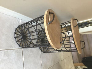 Heavy Wire Basket/Table Set-really different