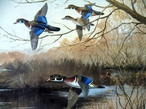 "Hand Signed and Numbered, Maynard Reece ""Wood Ducks"" Lithograph Stratford Kitchener Area image 4"