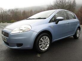 06/56 FIAT GRANDE PUNTO 1.2 DYNAMIC 5DR HATCH IN MET BLUE WITH ONLY 53,000 MILES