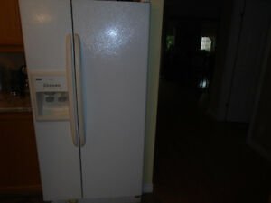 kenmore side by side fridge  may tag gas stove  dish washer