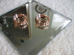 TWO GORGEOUS OLD VINTAGE GOLDTONE JEWELLED SCARF CLIPS