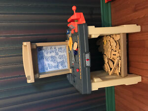 Home Depot kids tool bench with sccessories