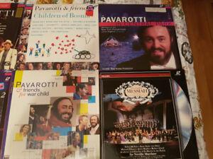 Pavaroti concert laser discs