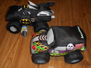 Monster Jam Squishy Pillows - Grave Digger and Batman