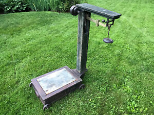 Vintage Fairbanks Platform Farm Scale with Weights