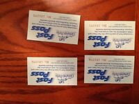 4 Upper Clements Park Fast Pass Tickets